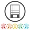 Building vector web icons set - Illustration Royalty Free Stock Photo