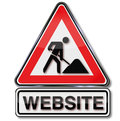 Building a website and under construction site Stock Image