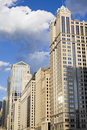 Buildings along Chicago River Royalty Free Stock Photo