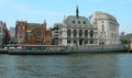 Buildings along thames in london classic architecture the river uk Stock Photography