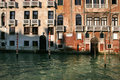 Buildings along Venice canals Royalty Free Stock Image