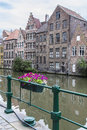 Buildings On Canal In Brugges Stock Image
