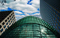 Buildings in Canary Wharf Royalty Free Stock Photo