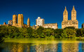 Buildings in the Central Park West Historic District and The Lak Royalty Free Stock Photo