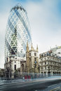 Buildings in city of london contemporary Royalty Free Stock Images