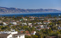 Buildings Coastline Pacific Ocean Santa Barbara California Royalty Free Stock Photo