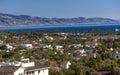 Buildings Coastline Pacific Ocean Santa Barbara California Royalty Free Stock Photo