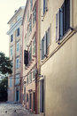 Buildings in corfu traditional building the city of Royalty Free Stock Photos