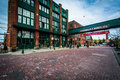 Buildings in the Distillery Historic District, In Toronto, Ontar Royalty Free Stock Photo