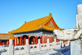 Buildings in forbidden city beijing Royalty Free Stock Images