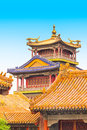 Buildings in the forbidden city beijing china Royalty Free Stock Photography
