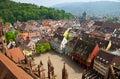 Buildings in Freiburg im Breisgau city, Germany Royalty Free Stock Photo