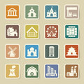 Buildings icon set illustration eps Stock Images