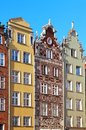 Buildings on Long Market street in Gdansk Stock Images