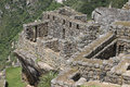 Buildings of Machu Picchu Royalty Free Stock Photo
