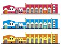 Buildings model of a two story building vector format Stock Photo
