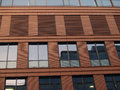 Buildings new office building in summer evening sunlight Royalty Free Stock Photo