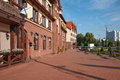Buildings in old style. Kaliningrad. Russia Stock Photos