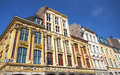 Buildings in the old town of lille france view Royalty Free Stock Images