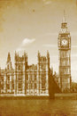 Buildings of Parliament with Big Ben Stock Photos