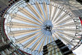 Buildings play at the sony center, Berlin Royalty Free Stock Photo