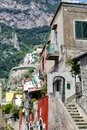 Buildings in Positano Town in Naples, Italy Royalty Free Stock Photo