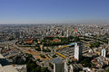 Buildings in sao paulo pictured panoramic of park don pedro station the city center of são located on the overpass tea Stock Photo