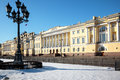 The buildings of the senate and synod in st petersburg constitutional court russia Stock Photography