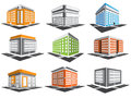 Buildings set vector of Royalty Free Stock Photography
