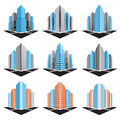 Buildings set vector illustration of Royalty Free Stock Image