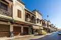 Buildings at the street of Mellah - Jewish quarter of Fez - Morocco Royalty Free Stock Photo