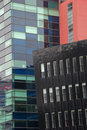 Buildings three abstract mixed together Stock Photography