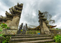 Buildings traditional balinese architecture the pura besakih temple Royalty Free Stock Images