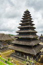 Buildings traditional balinese architecture the pura besakih temple Royalty Free Stock Image