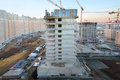 Buildings under construction moscow november in complex tsaritsino on november in moscow russia tsaritsino district is residential Royalty Free Stock Images