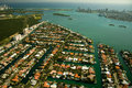 Buildings at the waterfront aerial view of miami florida usa Royalty Free Stock Photography