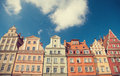 Buildings in wroclaw poland houses Royalty Free Stock Images