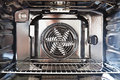 Built in oven detail of the interior of a modern with fan Royalty Free Stock Photography