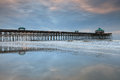 Built stretching feet over atlantic ocean edwin taylor folly beach pier place fishing walking birding relaxing Stock Photo