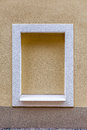 Built-up window in the tenement house. Royalty Free Stock Photo