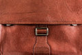 Buisness bag texture leather closed briefcase Stock Image