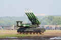 Buk-M missile launcher Stock Images