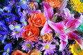 Buketten blommar vibrerande Arkivfoton