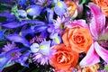 Buketten blommar vibrerande Royaltyfri Bild