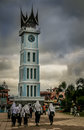 Bukittingi clock tower local landmark in bukittinggi in sumatra indonesia Stock Images