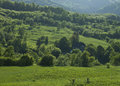 Bukovina landscape beautiful hills of northern romania Stock Photo