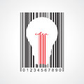 Bulb and bar code Stock Photography