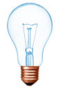 Bulb with bronze base as a expression of creativity ideas science think Stock Photos
