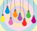Bulb color Stock Photos