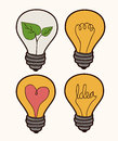 Bulb design over white background vector illustration Stock Image